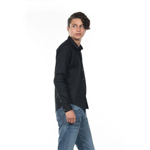 CAMISA-SUPER-SLIM-FIT-QUARRY-JEANS-MANGA-LARGA-COLOR-NEGRO-TALLA-MEDIANA---Quarry-Jeans