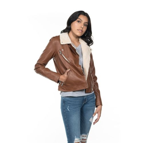 CHAMARRA-DAMA-QUARRY-JEANS-ESTILO-BIKER-COLOR-VERDE-BOTELLA-TALLA-EXTRA-GRANDE---Quarry-Jeans