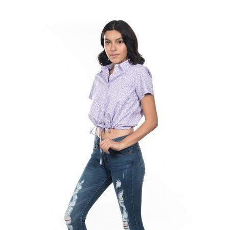 BLUSA-QUARRY-JEANS-MANGA-CORTA-COLOR-AZUL-MARINO-TALLA-CHICA---Quarry-Jeans