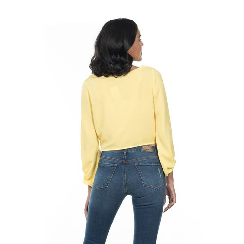 BLUSA-CUELLO-REDONDO-QUARRY-MANGA-LARGA-COLOR-AMARILLO-TALLA-EXTRA-CHICA---Quarry-Jeans
