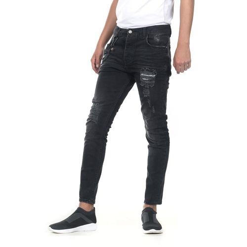 PANTALON-QUARRY-JEANS-MEZCLILLA-CARROT-TIRO-LARGO-COLOR-NEGRO-TALLA-EXTRA-GRANDE---Quarry-Jeans